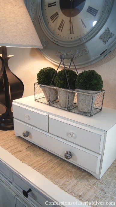 Three drawer thridt store chest transformed with chalk paint
