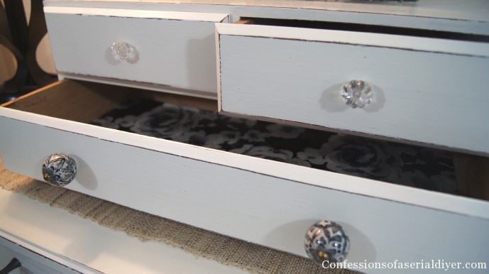 A new paint job and some sweet knobs are the perfect touch for this little thrift store chest!