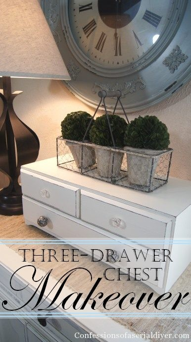 A new paint job and some cute knobs are the perfect fix for this little thrift store chest!