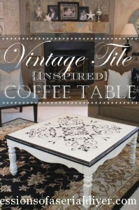 Vintage Tile-Inspired Table Makeover