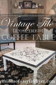 Vintage Tile-Inspired Table Makeover