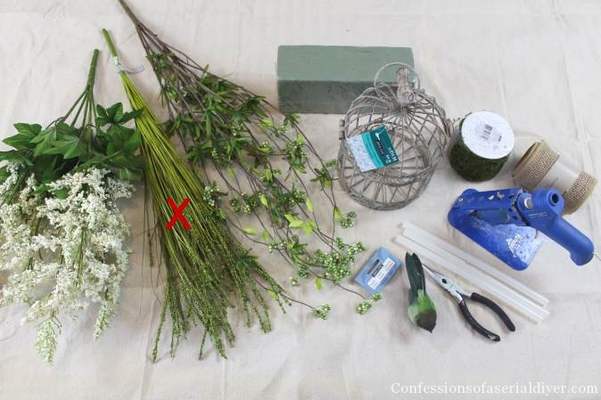 DIY Spring Birdhouse Arrangement 2