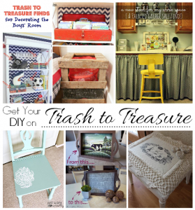 Get Your DIY on March: Trash to Treasure
