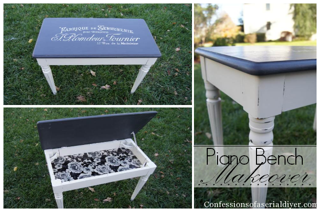 Piano Bench Makeover
