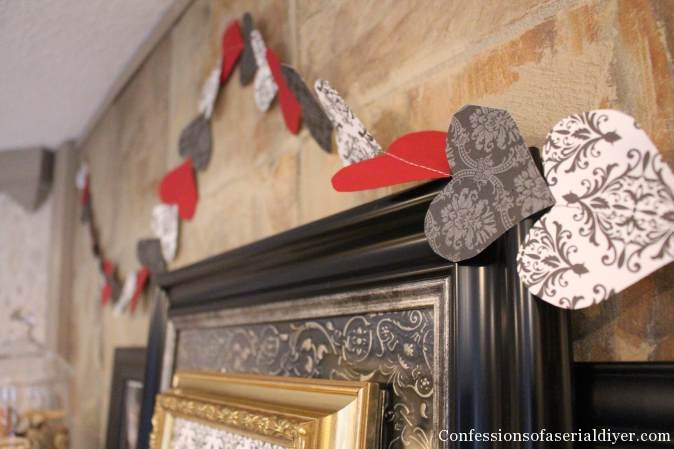 Easy-Sew Heart Garland