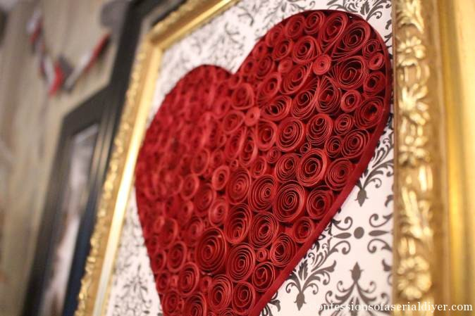 Quilled Paper Hearts 16