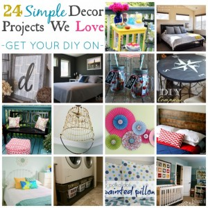 24 Simple Decor Projects we Love {Get Your DIY on Features}