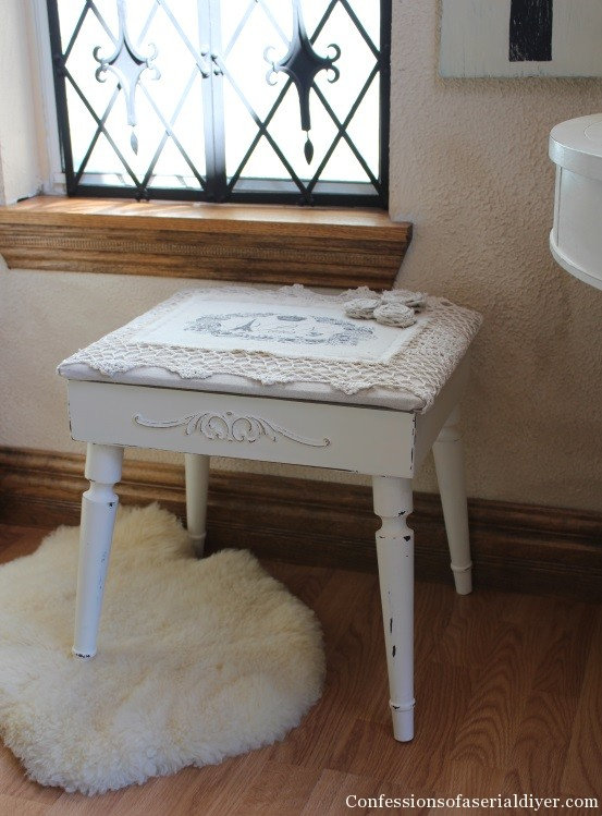 Pretty Stool for her from a men's valet stand