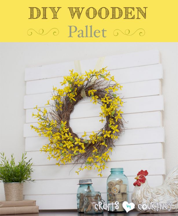 DIY Wooden Pallet via Crafts by Courtney