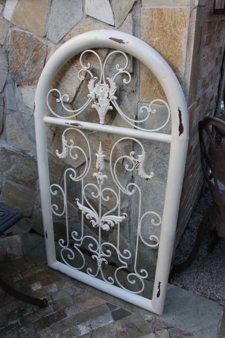 Arched Metal Wall Art Made Over with Spraypaint