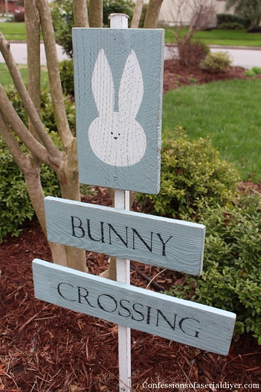 Bunny Crossing Sign