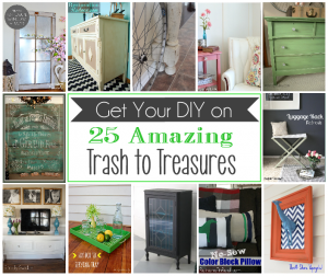 25 Amazing Trash to Treasure Projects {Get Your DIY on Features}