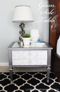 Thrift Store Side Table Goes Glam