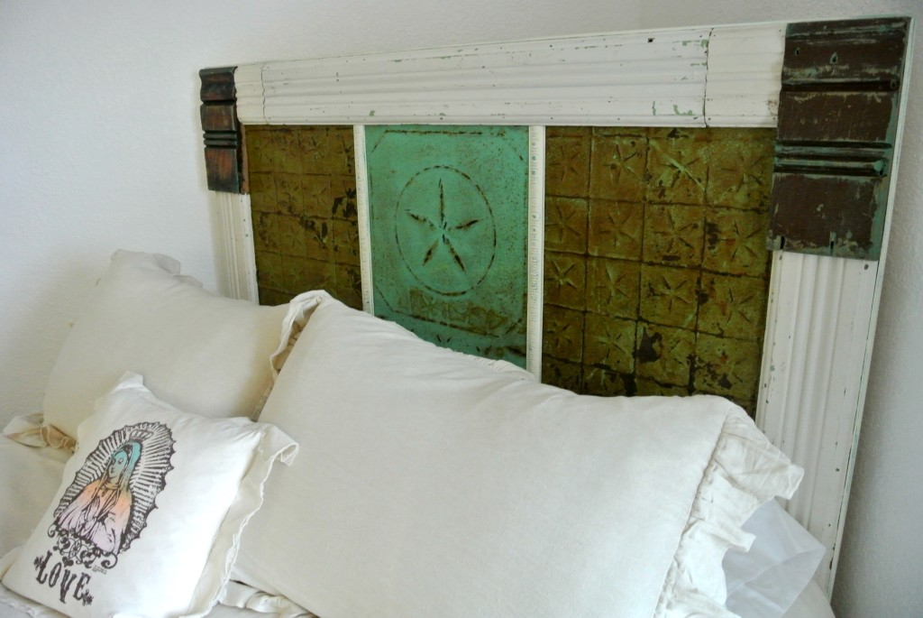 Archtectural Salvage Headboard via Bohemian Junktion