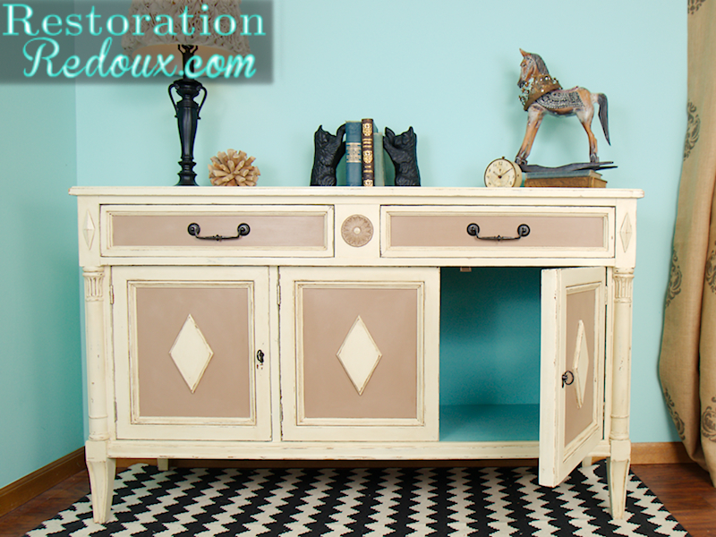 Ivory Buffet Makeover vis Restoration Redoux