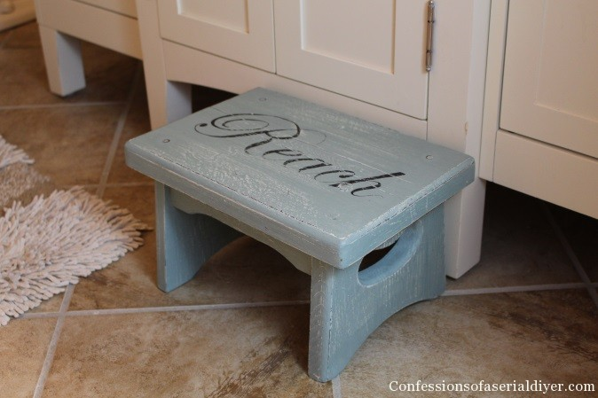 Step Stool in Duck egg blue