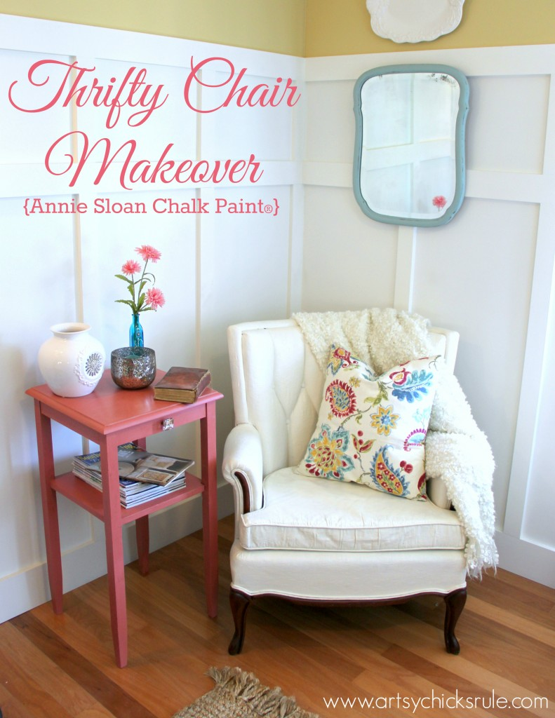 Thrifty French Chair Makeover via Artsy Chicks Rule
