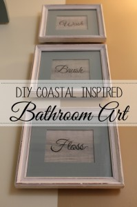 DIY Coastal Inspired Bathroom Art