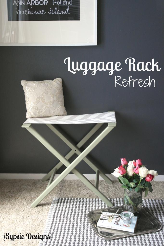 Luggage Rack Refresh via Sypsie Designs