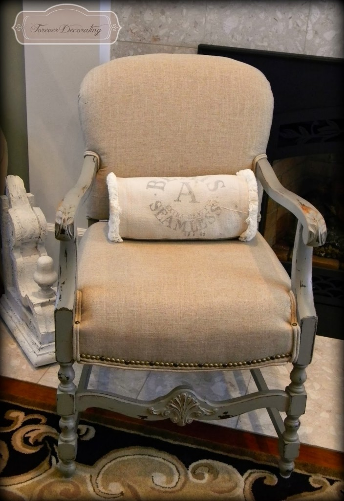 Chair Makeover via Forever Decorating