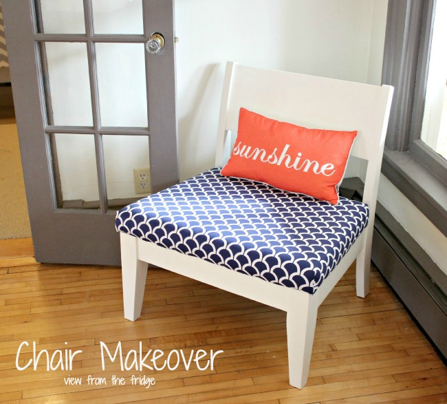 Chair Makeover via View from the Fridge