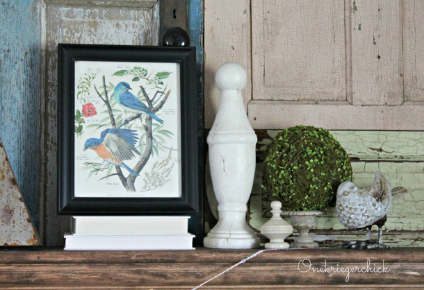 Spring Mantel via One Krieger Chick