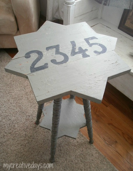 Handmade Numbered Table via My Creative Days