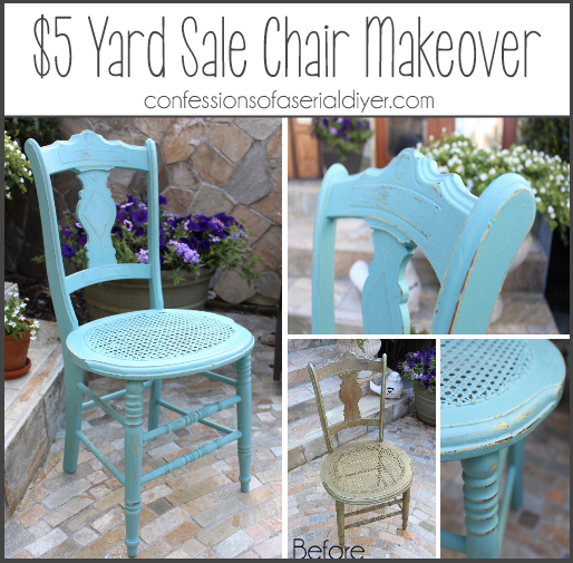 Yard Sale Chair Makeover in ASCP Provence