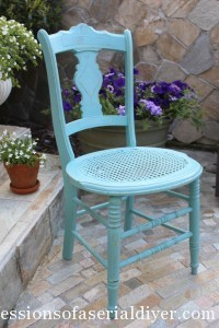 Chair Makeover in ASCP Provence Blue