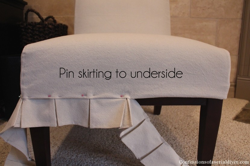 Slip-Covering an Armless Accent Chair