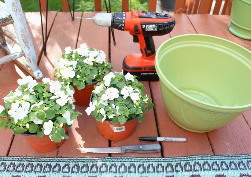 DIY Umbrella Planter 1