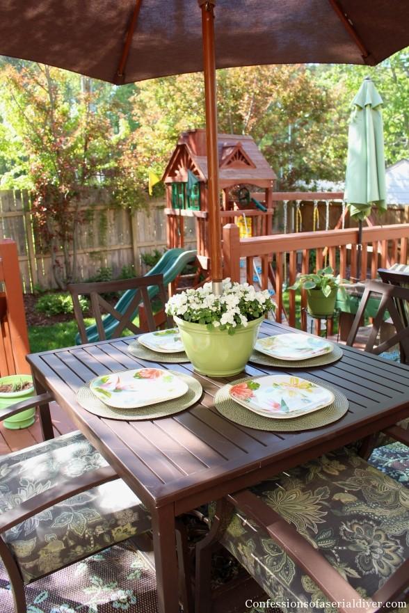 DIY Umbrella Planter 5