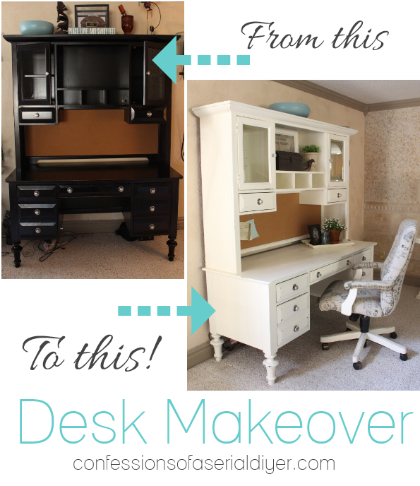 Trend Desk Makeover with DIY Chalk Paint