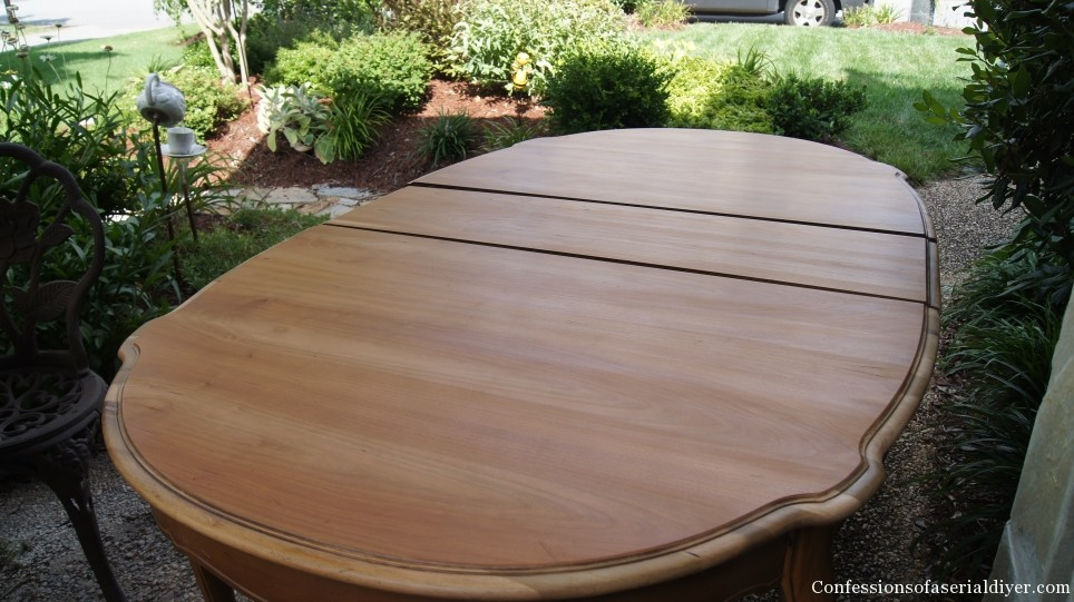 How to remove stain from furniture without sanding.