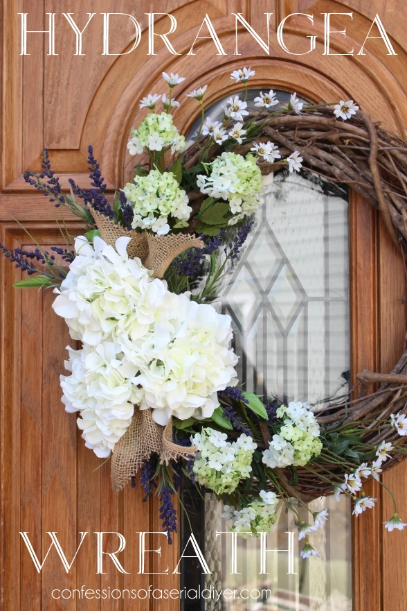 Make a spring hydrangea wreath for your front door - Used exterior doors for sale near me ...