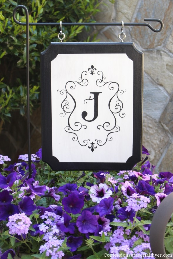 Monogrammed Outdoor Plaque