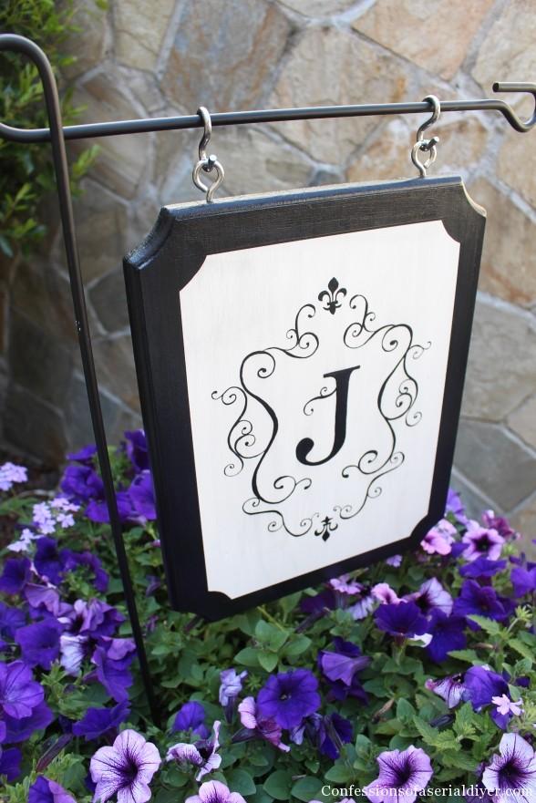Monogrammed Outdoor Sign