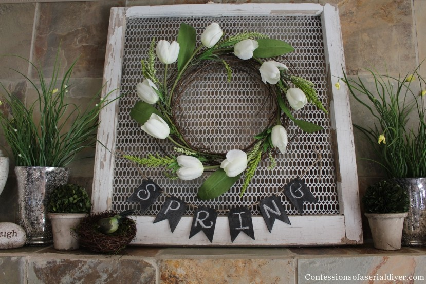 Tulip Wreath, super simple and perfect for Spring!