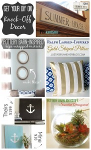 Get Your DIY on June: Knockoff Projects