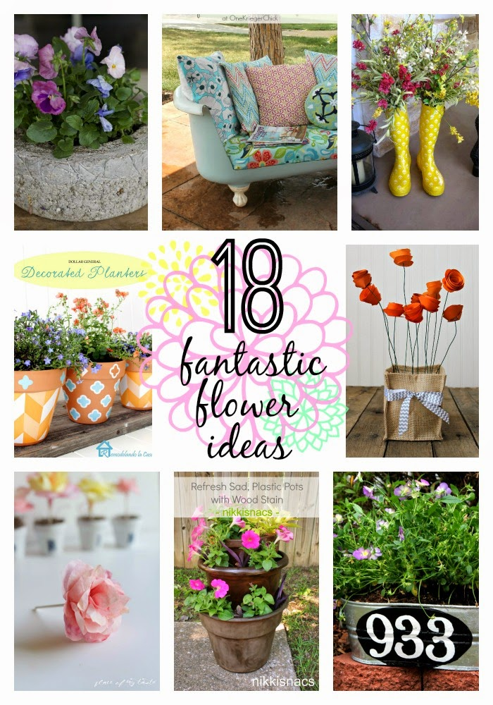 18 fantastic flower ideas collage