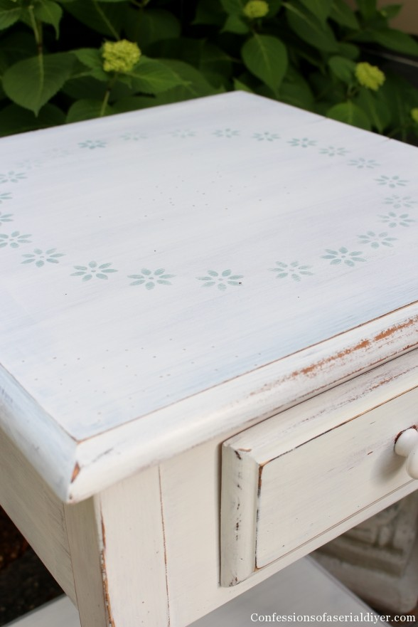 Stenciled Table Top
