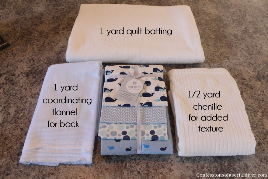 How to Make a Baby Quilt from Receiving Blankets | Confessions of ... : batting for baby quilt - Adamdwight.com