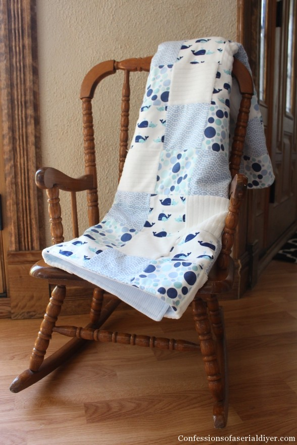 Make a Baby Quilt from Receiving Blankets!