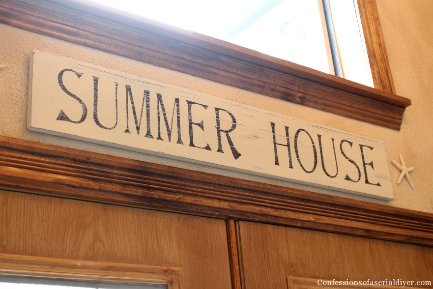 PB Inspired Summer House SIgn