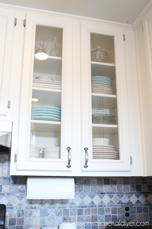 White Kitchen Cabinet Door how to add glass to cabinet doors | confessions of a serial do-it