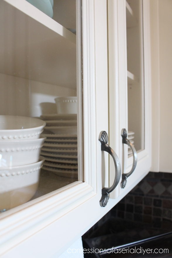 Adding Glass to Kitchen Cabinet Doors 26 | Confessions of ...
