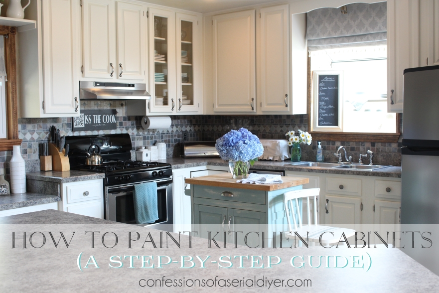 How to paint kitchen cabinets a step by step guide confessions of a serial do it yourselfer - How to glaze kitchen cabinets that are painted ...
