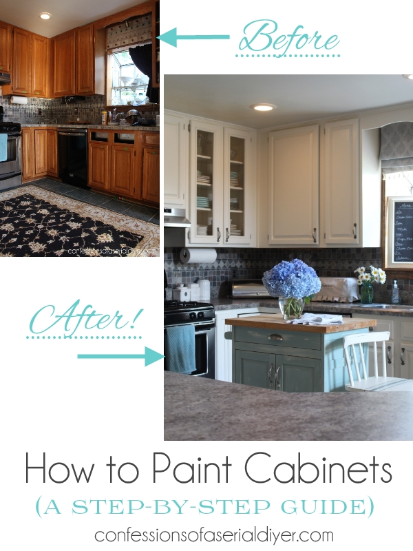 how to paint kitchen cabinets the right way from confessions of a serial do it - Can You Paint Your Kitchen Cabinets