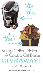 Keurig Coffee Maker and Godiva Gift Basket Giveaway!