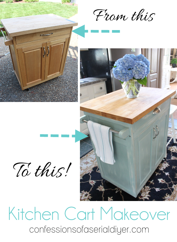 Rolling Kitchen Cart Makeover with ASCP